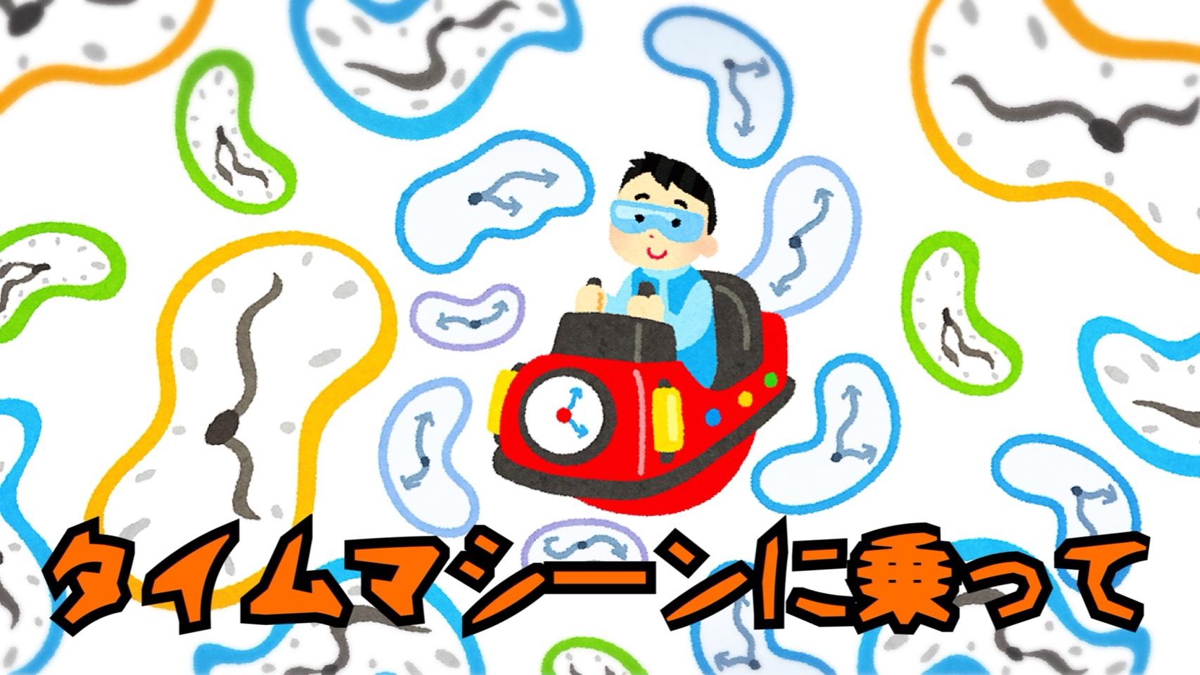 「タイムマシーンに乗って」のイメージ